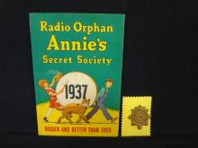 Little Orphan Annie Secret Society Book and Badge