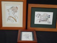 (3) Becky Crane Original Die Cut Art Pieces www.epapercuts.com