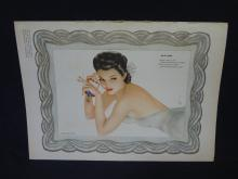 1943 Vargas Pin-Up Calendar from Esquire Magazine Pull-Out
