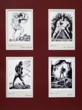 Rockwell Kent Shakespeare Woodblock Prints