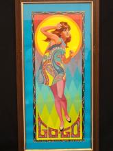 Paul Detlefsen Psychedelic Pop-Art Lithograph Framed 1967