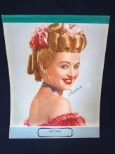 1950's Betty Grable Writing Notepad