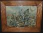Hans Volck, Cleveland School Battle Scene Watercolor, Hans H. Volck, Click for value