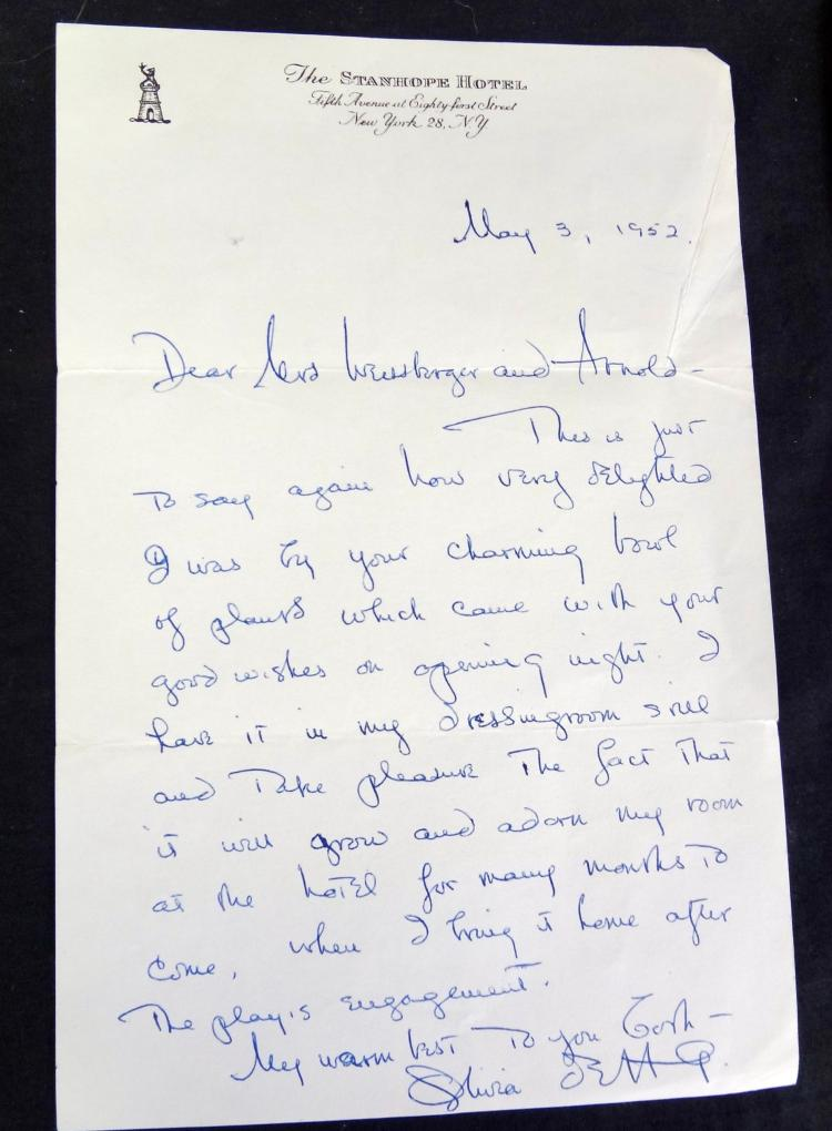 7 Handwritten Letters From Olivia DeHavilland To Arnold We