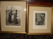 Pair of Political 1870's Gravures Goupil and Herrmann