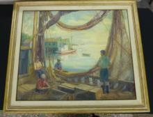 Helen Hudson Bellows Oil on Canvas