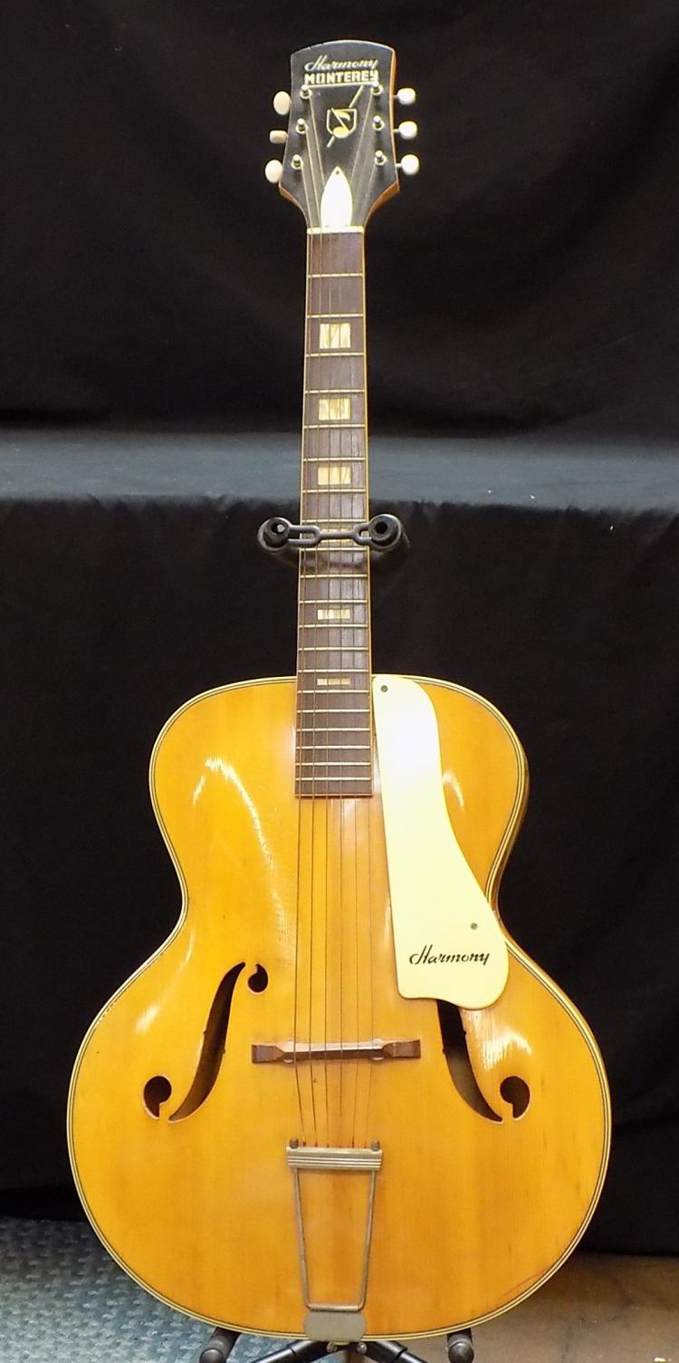 Sold Price: Vintage Harmony Monterey Acoustic Guitar