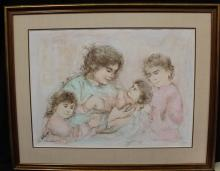 Edna Hibel Marilyn & Child S/N Lithograph 45/52