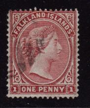 Falkland Islands Scott 1 Fine Used SCV.$500
