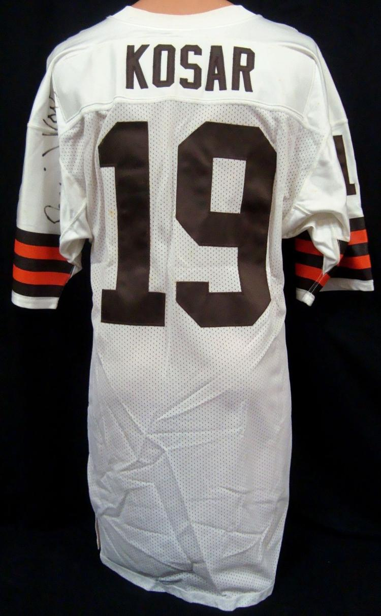save off 96554 7dce5 Circa 1991 Bernie Kosar Cleveland Browns Signed Game Used ...