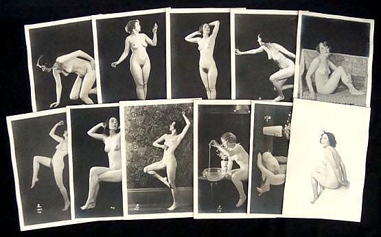 Henry Shaw Group of Nudes Vintage Silver Prints
