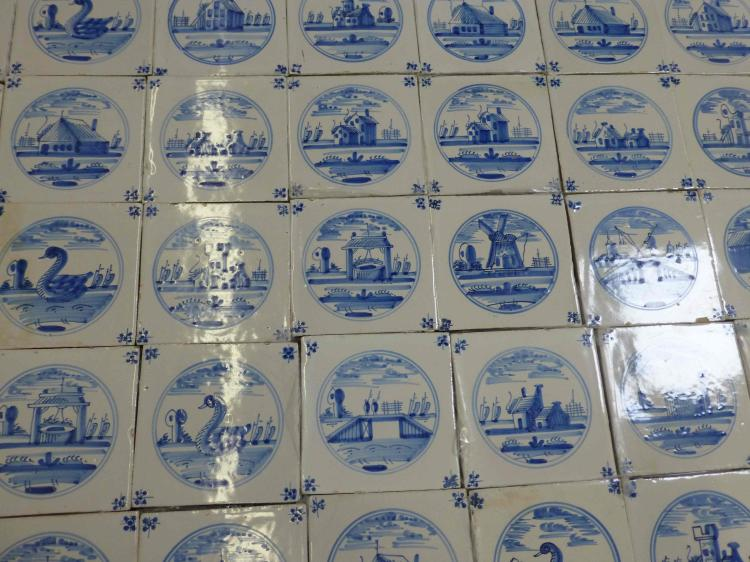 Collection 61 Delft Blue White Tiles Swans Castles Cottage