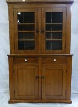 19th. c. Stepback Two Piece Hutch