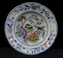 Flying Bird Davenport Ironstone China Bowl c 1805 - 1820
