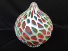 Art Deco Spade Shape Multicolor Glass Globe