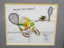 Tweet and Sylvester Friz Freleng Signed Animation Cel