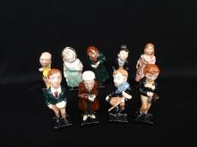 (9) Charles Dickens Royal Doulton Character Figurines