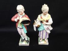KPM late 18th Century Boy and Girl Porcelain Figurines