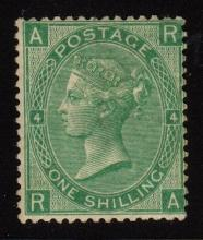 Great Britain Scott 54 Fine OG LH 1sh Queen Victoria SCV.$1200