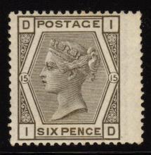 Great Britain Scott 62 VF OG LH 6p Queen Victoria SCV.$500