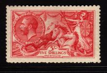 Great Britain Scott 174 VF OG H 5sh Seahorse SCV.$525