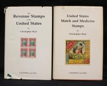 Christopher West - (2)Volumes on Revenue Stamps