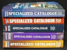 (5) U.S. Scott Specialized Catalogs 2010-12,2014-15