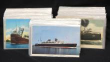 (300) Postcards - Ships Boats Ocean Liners Steamers
