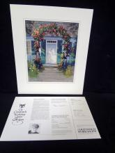 """Paul Landry Greenwich Workshop Limited Edition Signed Lithograph """"Cape Cod Welcome"""""""