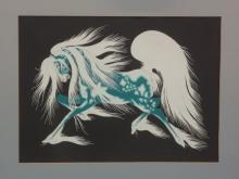 Woody Crumbo Potawatomi Artist Serigraph Silkscreen Horse Print