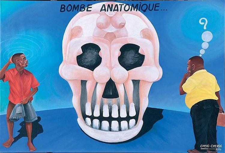 CHERI CHERIN La bombe anatomique Acrylique sur