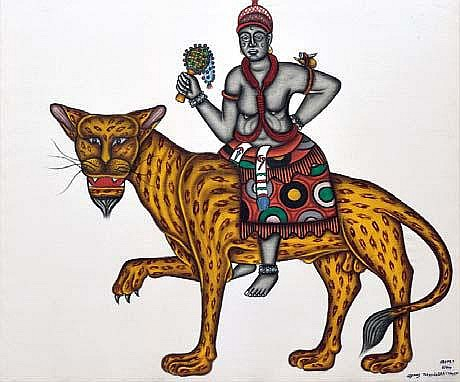 CYPRIEN TOKOUDAGBA Agassou Acrylique sur toile.