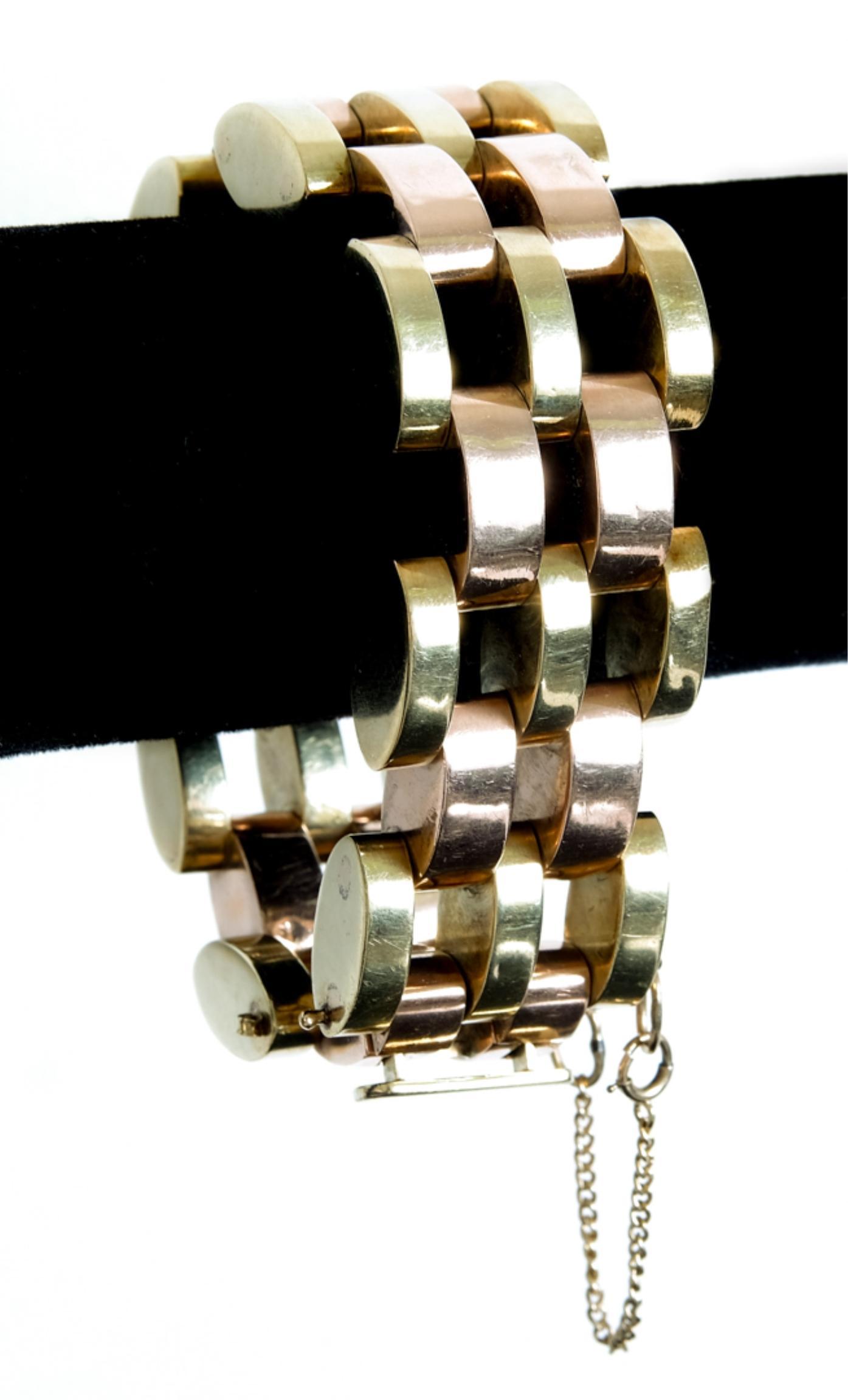 14k Tiffany & Co. Two Tone Gold Bracelet 92 grams