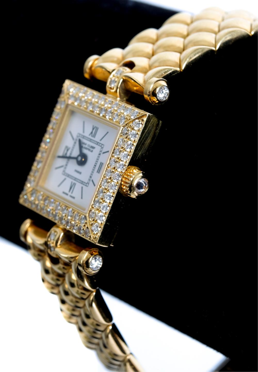 VCA 18K YG & Diamond Classique Watch w/Box