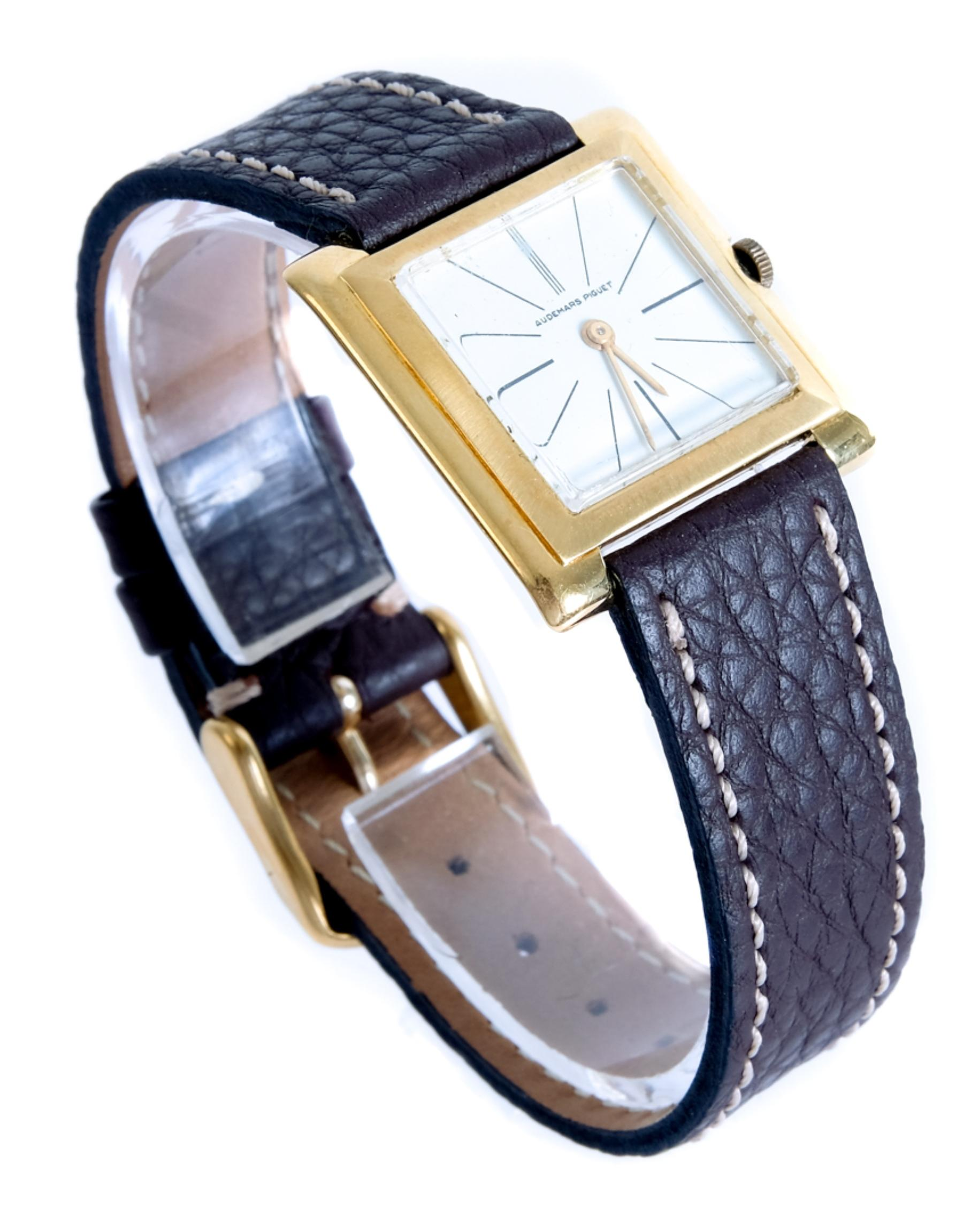 Vintage Audemars Piguet 18k YG Square Watch