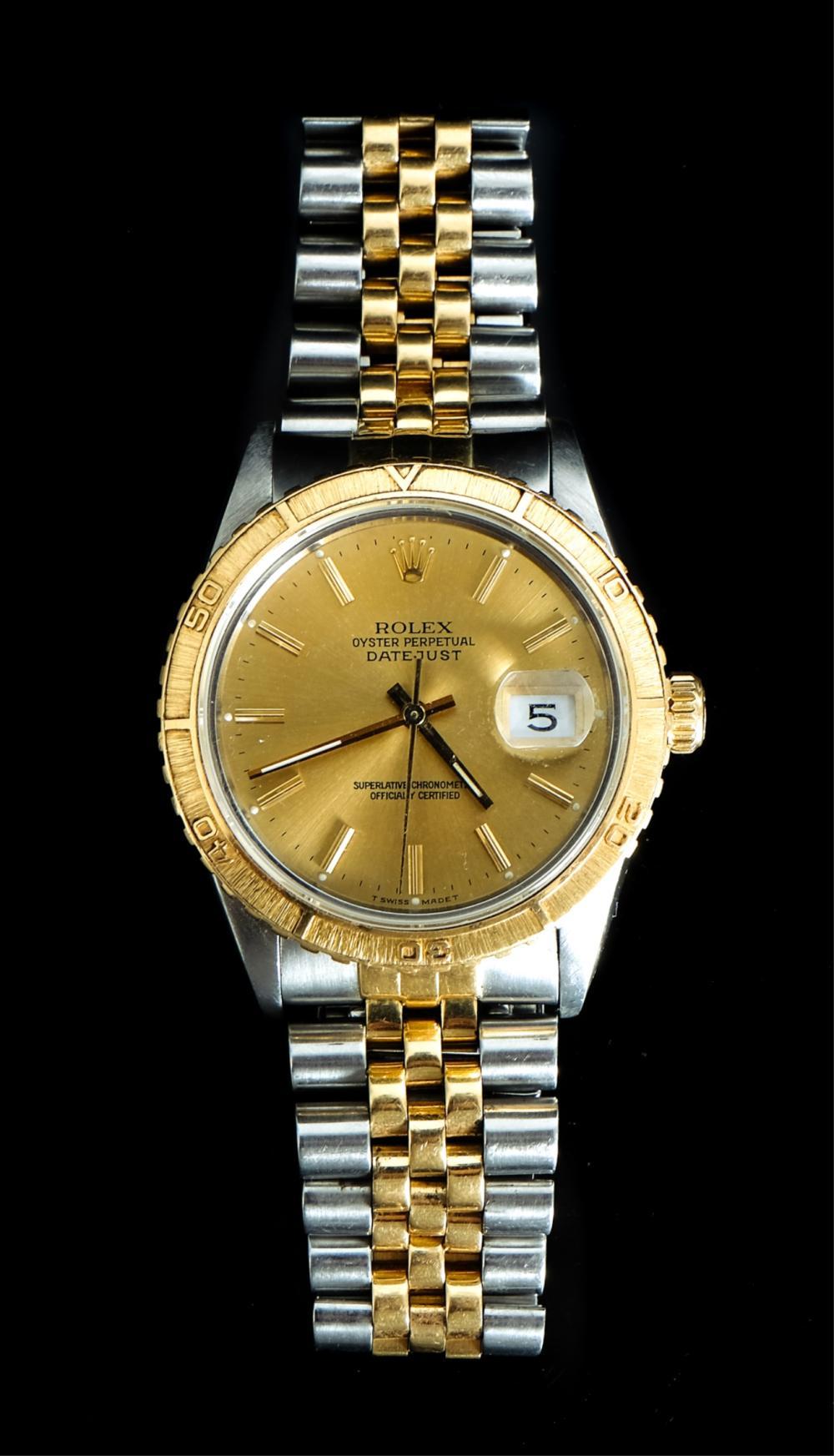 Men's Rolex Datejust 18k YG Stainless Steel