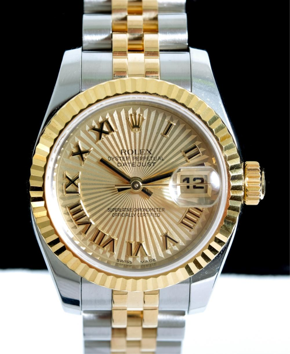 Ladies SS YG Rolex Oyster Perpetual Datejust