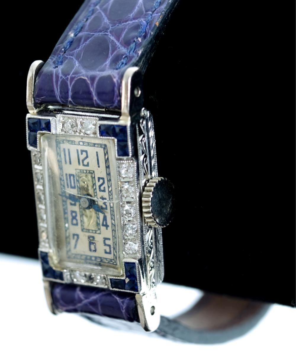Art Deco Sapphire & Diamond Watch
