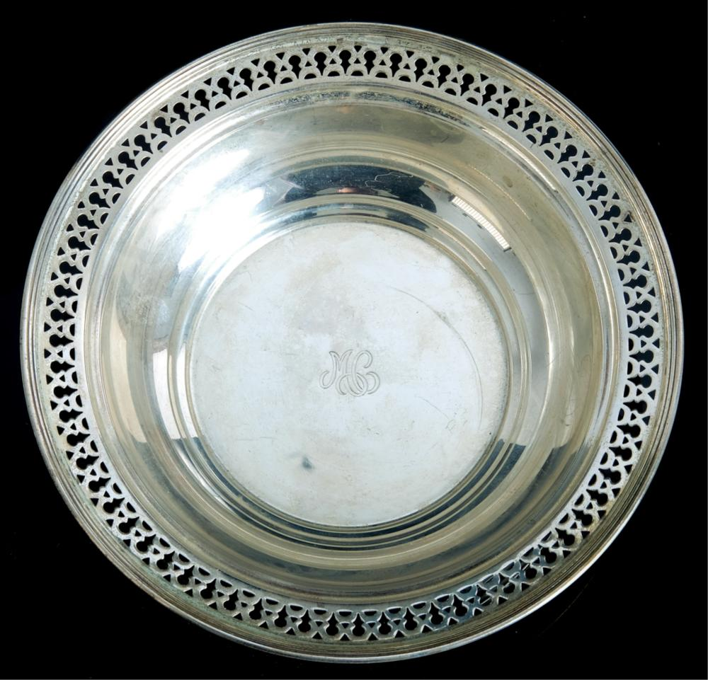 Two Tiffany & Co Sterling Silver Table Accessories
