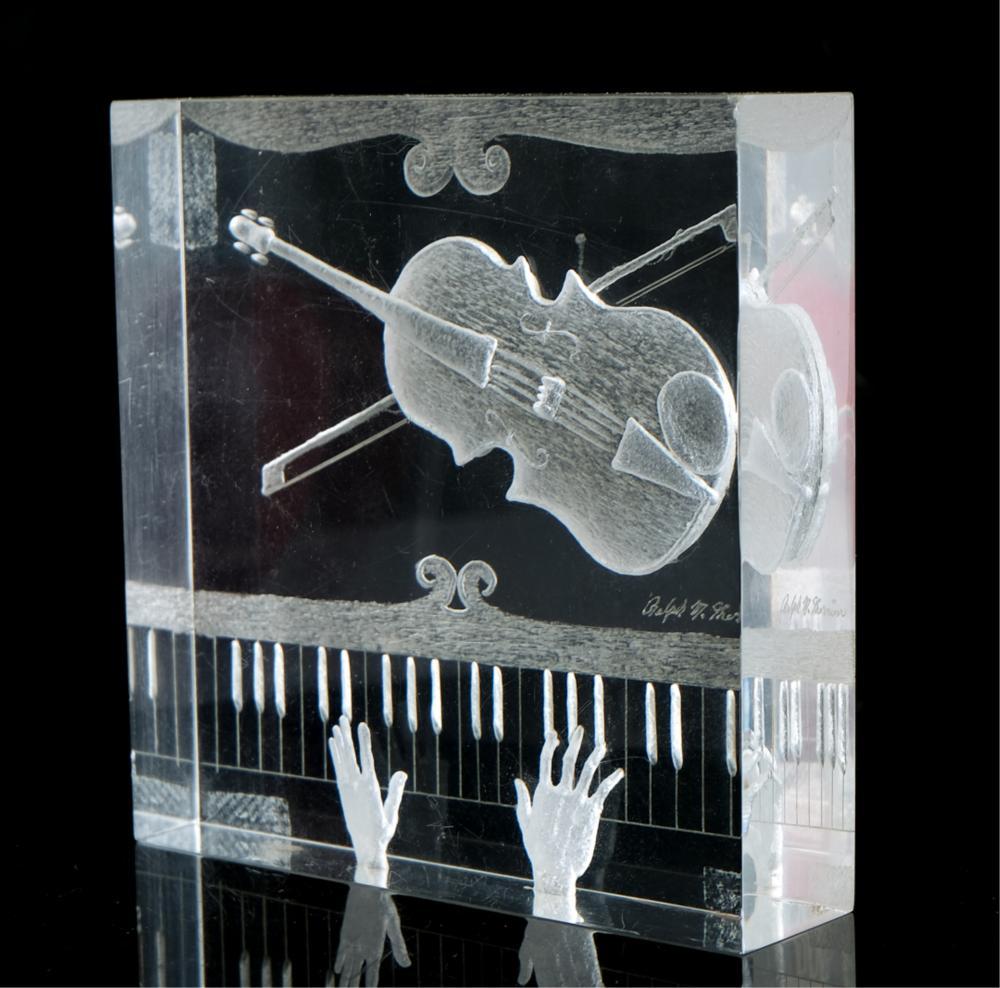 Ralph Therrien Internally Sculpted Acrylic Block