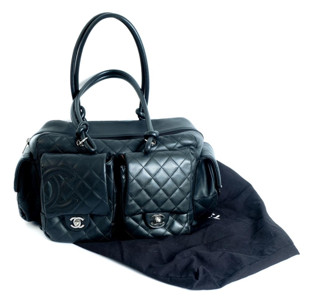 Chanel Jumbo Quilted Lambskin Leather Saddle Bag