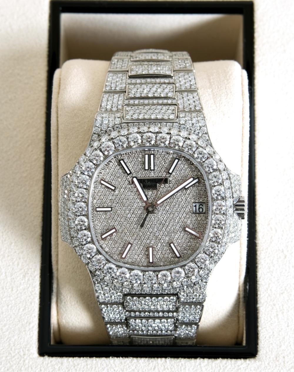 Patek Philippe Nautilus 5711 Pave Diamond Watch
