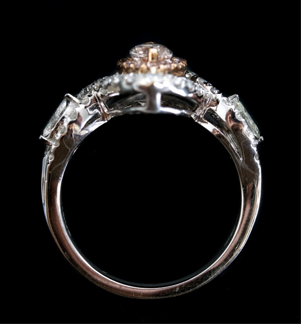 18k White Gold & 0.70ctw Marquise Cut Diamond Ring