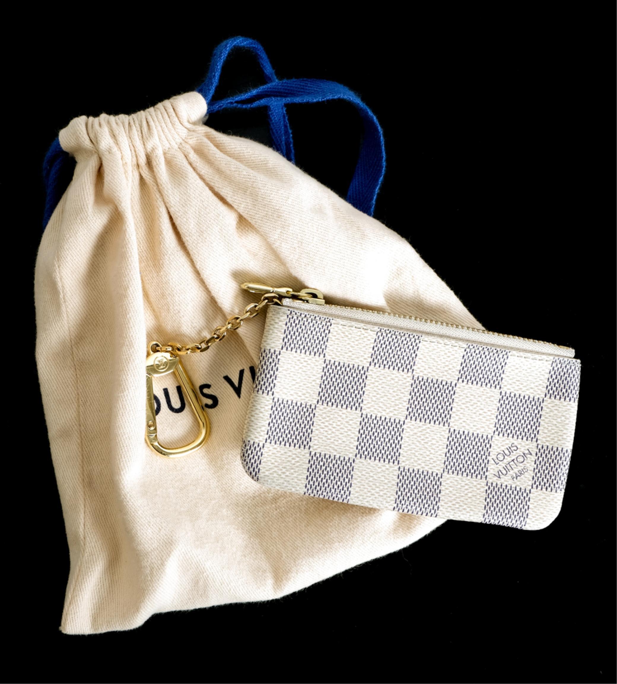 Louis Vuitton Damier Azur Key Pouch w/Dust Bag