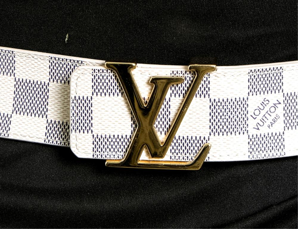 Louis Vuitton Damier Azur LV Initials Belt