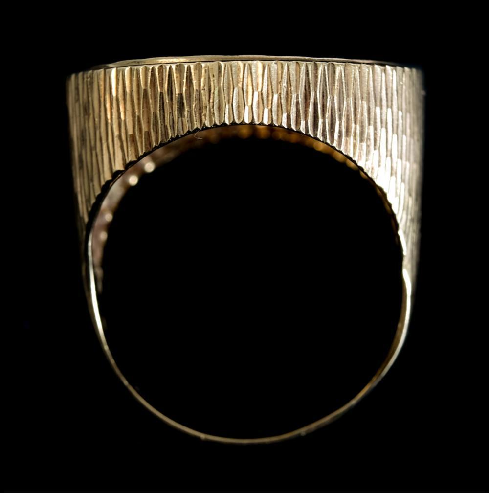 English Edward VII Gold Sovereign Coin Ring