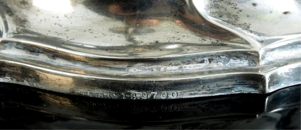 Impressive German 800 Silver 5 Light Candelabra