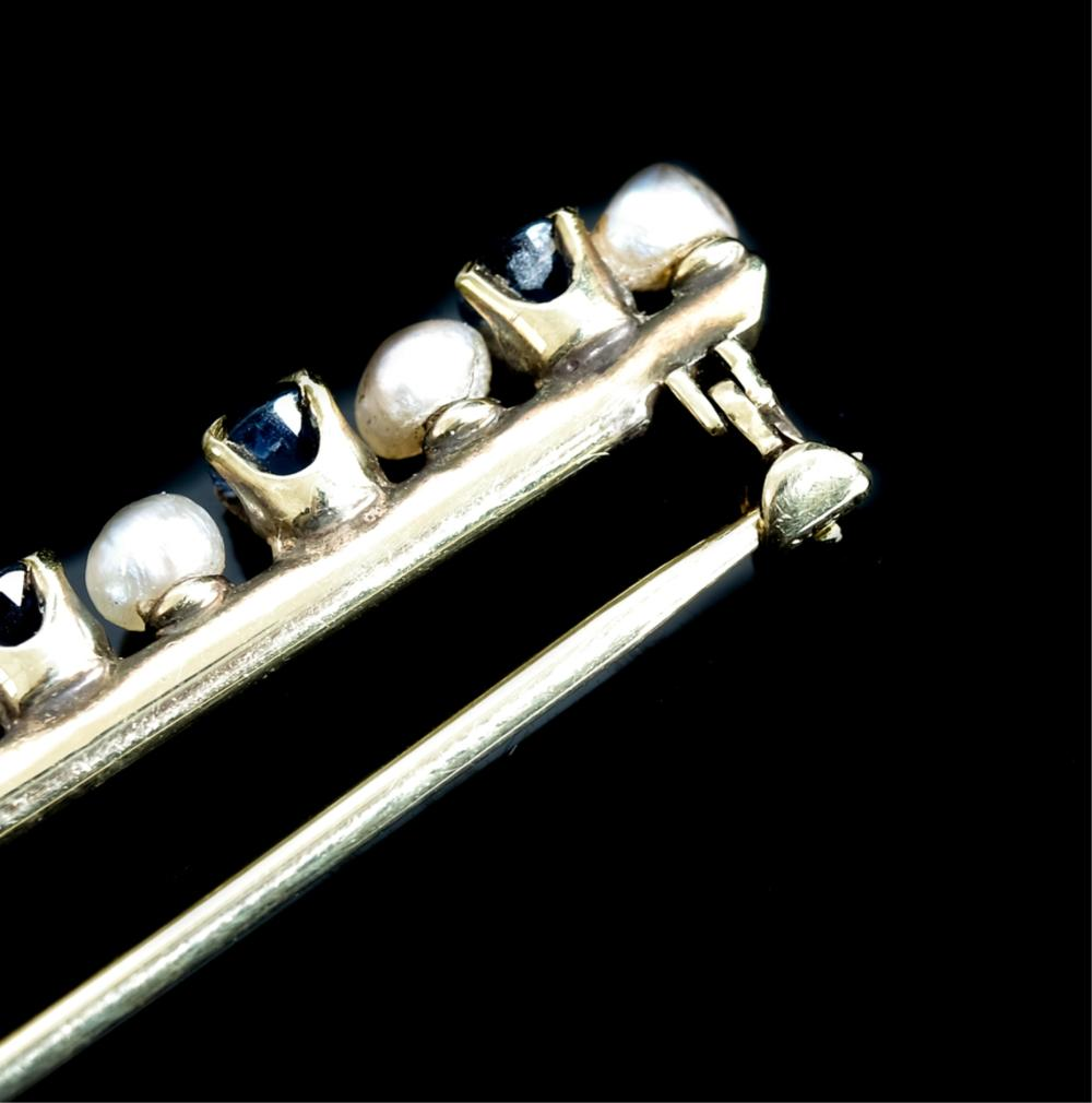 Group, Four Victorian 14k Yellow Gold Scarf Pins