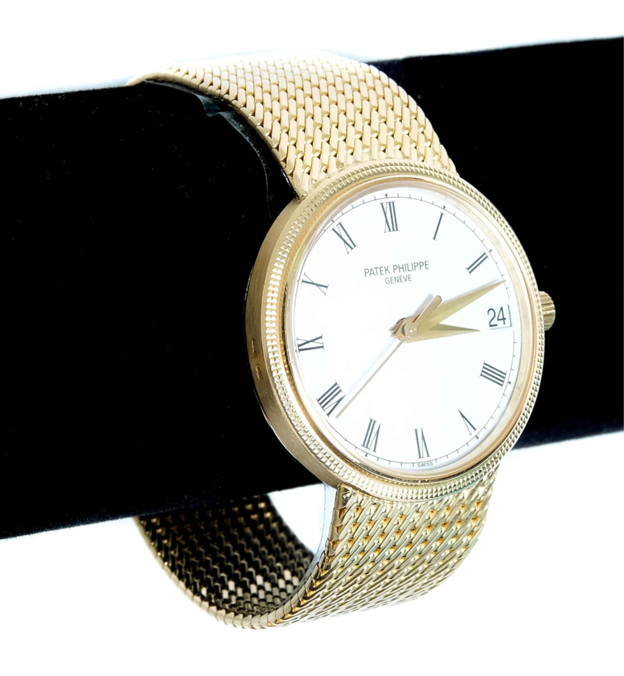 Patek Philippe 18K YG Automatic Watch w/Date