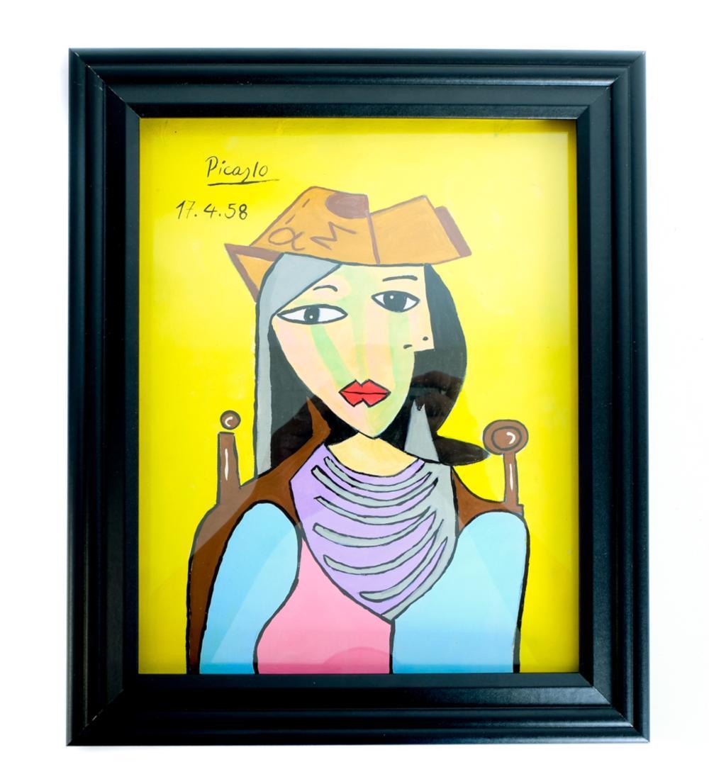 Marina Picasso, Gouache/Paper Galerie Mathias Fels